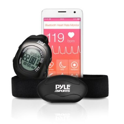 Pyle PYLPSBTHR70BK Wireless Training Exercise Strap and Wrist Watch System