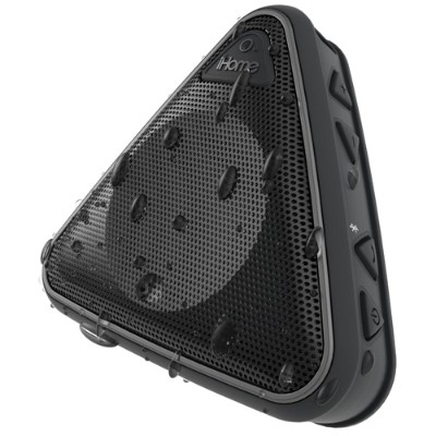 iHome IBT3BC Splashproof Wireless Speaker with Speakerphone - Black