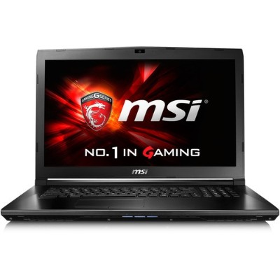 MSI GL726QF-405 GL72 6QF-405 Intel Core i7-6700HQ Quad-Core 2.60GHz Gaming Notebook - 8GB RAM 1TB HDD 17.3 FHD DVD SuperMulti Gigabit Ethernet 802.11ac Bl