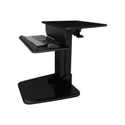 Atdec A-STSFB A-STSFB - Stand for monitor / keyboard - plastic  steel - black - desk-mountable - for P/N: A-STSCB  A-STSWW
