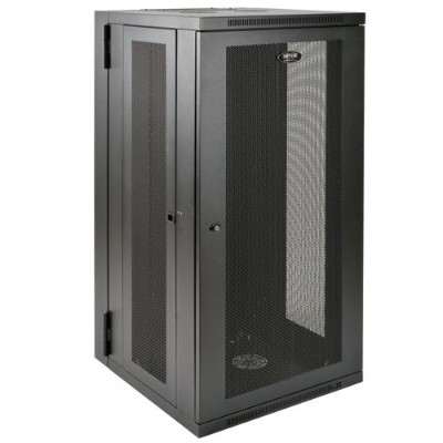 TrippLite SRW26USDP 26U Wall Mount Rack Enclosure Cabinet Wallmount 24.5 Depth with Doors & Sides 200lb Cap