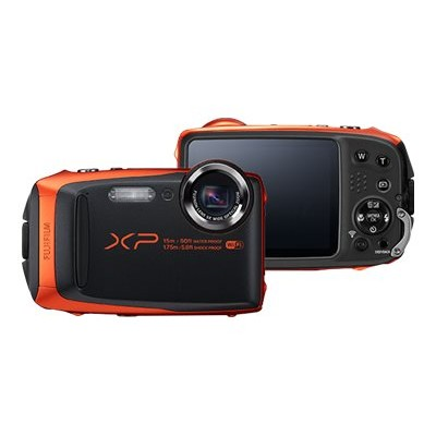 Fujifilm 16500337 FinePix XP90 - Digital camera - compact - 16.4 MP - 1080p \/ 60 fps - 5 x optical zoom - Fujinon - Wi-Fi - underwater up to 45 ft - orange