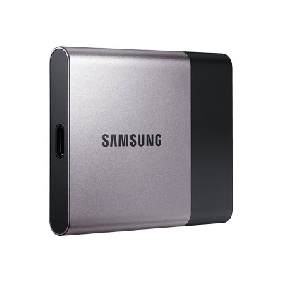 Samsung MU-PT1T0B/AM Portable SSD T3 MU-PT1T0B - Solid state drive - encrypted - 1 TB - external (portable) - USB 3.1 Gen1 - 256-bit AES