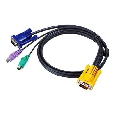 Aten Technology 2L5206P MasterView KVM cable 2L5206P - keyboard / video / mouse (KVM) cable - 20 ft