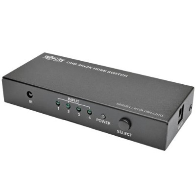 TrippLite B119-004-UHD 4-Port HDMI Switch for Video & Audio 4K x 2K UHD 60 Hz w Remote