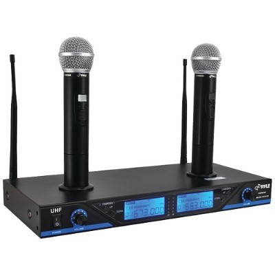 Pyle PDWM2560 Premier Series UHF Wireless Microphone System