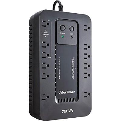 Cyberpower EC750GTAA Ecologic Series EC750G - UPS - AC 120 V - 450 Watt - 750 VA - USB - output connectors: 12 - TAA Compliant