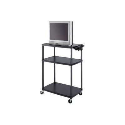 Safco Products Company 8944BL 8944BL - Cart for LCD / AV System - plastic - black - screen size: up to 27