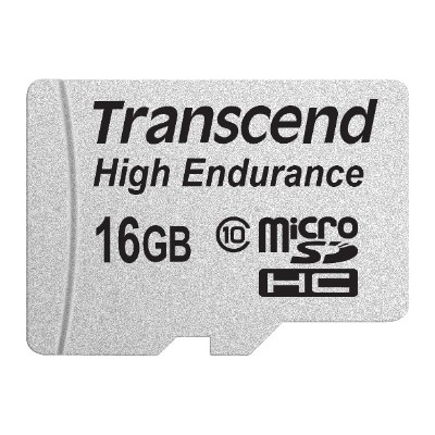 Transcend TS16GUSDHC10V High Endurance - Flash memory card (microSDHC to SD adapter included) - 16 GB - Class 10 - SDHC