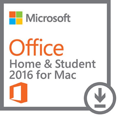 Microsoft GZA-00850 Office for Mac Home and Student 2016 - Box pack - non-commercial - medialess  P2 - Mac - English - North America