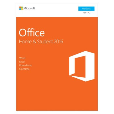 Microsoft 79G-04589 Office Home and Student 2016 - Box pack - 1 PC - non-commercial - 32/64-bit  medialess  P2 - Win - English - North America