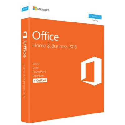 Microsoft T5D-02776 Office Home and Business 2016 - Box pack - 1 PC - 32/64-bit  medialess  P2 - Win - English - North America