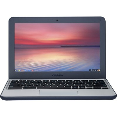 ASUS C202SA-YS02 Chromebook C202SA-YS02 Intel Core Celeron N3060 Dual-Core 1.6 GHz Notebook PC - 4GB RAM  16GB eMMC  11.6 HD  802.11ac  Bluetooth V4.2 - Dark Bl