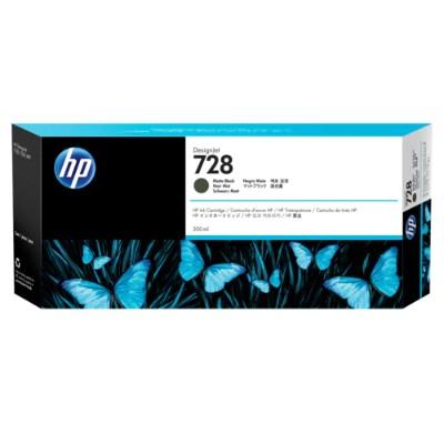 HP Inc. F9J68A 728 - 300 ml - matte black - original - DesignJet - ink cartridge - for DesignJet T730  T830
