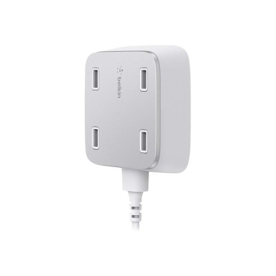 Belkin F8M990TTWHT Family Rockstar - Power adapter - 5.4 A - 4 output connectors (USB (power only))