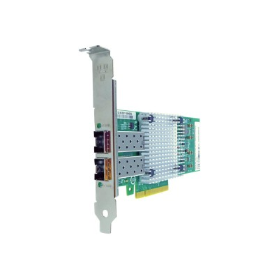 Axiom Memory 652503-B21-AX Network adapter - PCIe 2.0 x8 - 10 Gigabit SFP+ x 2 - for HPE ProLiant DL20 Gen9  DL560 Gen9  ML30 Gen9  ML350p Gen8  XL170r Gen9  XL