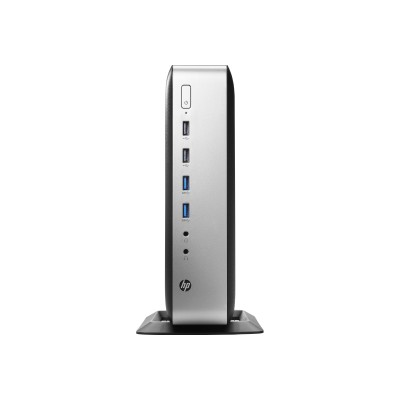 HP Inc. V2V44UT#ABA t730 Thin Client - Tower - AMD RX-427BB 2.7GHz APU with Radeon HD 9000 graphics  8GB DDR3L-1600 SDRAM  64 GB MLC mSATA SSD  85W  Gigabit Eth
