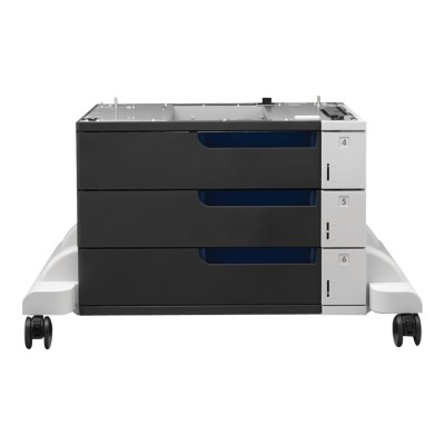 HP Inc. C1N63A Paper Feeder and Stand - Printer base with media feeder - 1500 sheets in 3 tray(s) - for Color LaserJet Enterprise M855dn  M855x+  M855x+ NFC/Wir