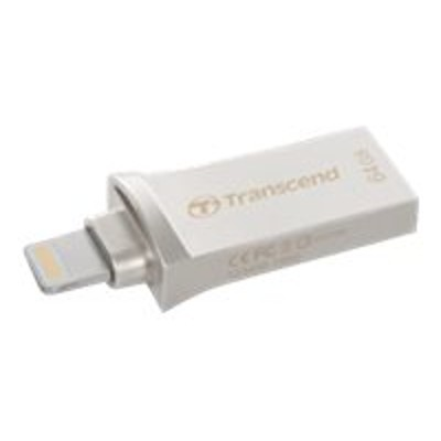 Transcend TS32GJDG500S JetDrive Go 500 - USB flash drive - 32 GB - USB 3.1 / Lightning - silver