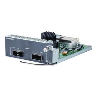 Hewlett Packard Enterprise JH155A 2-port QSFP+ Module - Expansion module - 40Gb Ethernet x 2 - for  5510 2-port QSFP+ Module