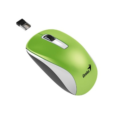 Genius 31030114108 NX-7010 - Mouse - optical - 3 buttons - wireless - 2.4 GHz - USB wireless receiver - metallic green
