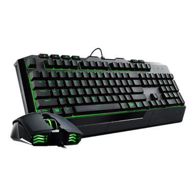 Cooler Master SGB-3032-KKMF1-US Devastator 2 Green Version - Keyboard and mouse set - USB - US - black