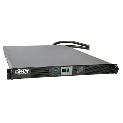 TrippLite PDU330AT6L2130 8.6kW 3-Phase 208V Monitored Rack ATS  1U  2 L21-30P  6 ft. Cords  (Vertical PDU also required  Sold Separately)