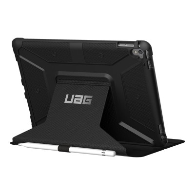 Urban Armor Gear IPDPRO9.7-BLK Flip cover for tablet - rugged - black - for Apple 9.7-inch iPad Pro