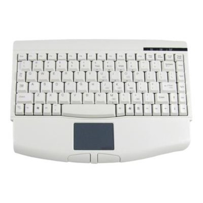 Adesso ACK-540UW Mini-Touch Keyboard with Touchpad - USB - White