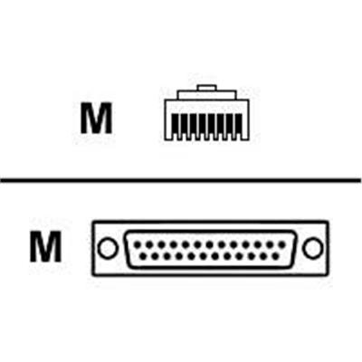 Lantronix 200.2066A Serial adapter - RJ-45 (M) to DB-25 (M) - for Secure Console Server SCS100  SCS1600  SCS3205  SecureLinx SLC8  ConsoleServer 1600