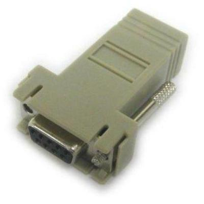 Lantronix 200.2070A Serial RS-232 adapter - RJ-45 (M) to DB-9 (F) - for Secure Console Server SCS3205  SCS4805  SecureLinx SLC8  SLC 8000