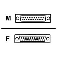 Belkin F4A602 Null modem adapter - DB-25 (F) to DB-25 (M)