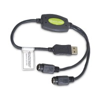 Iogear GUC10KM USB to PS/2 adapter for keyboard/mouse