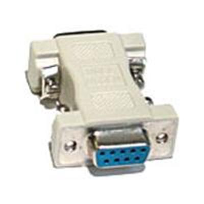 Cables To Go 08075 Null modem adapter - DB-9 (F) to DB-9 (M) - beige