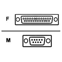 Belkin F2L087 AT Serial Adapter - Serial adapter - DB-9 (M) to DB-25 (F) - molded
