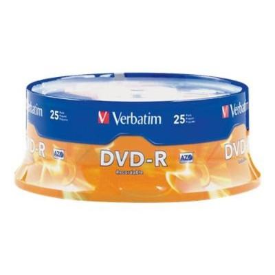 Verbatim 95058 16x 4.7GB DVD-R Branded Media  25-Pack Spindle