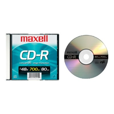 Maxell 648201 48x CD-R 700MB Data Storage Media  - 1 Pack Slim Jewel
