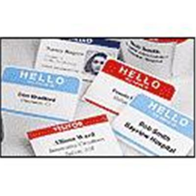 Dymo 30857 Name Badge With Clip Hole - Name badge labels - black on white - 2.25 in x 4 in 250 label(s) ( 1 roll(s) x 250 ) - for  Desktop Mailing Solution Twin