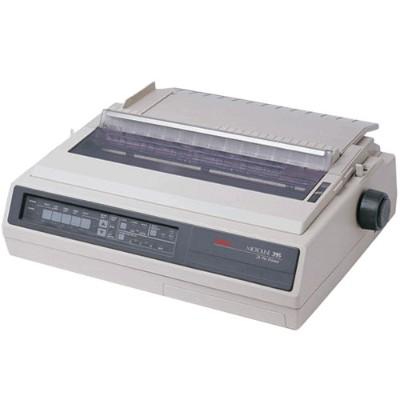 Oki 62410501 Microline 395 - Printer - monochrome - dot-matrix - Roll (16 in) - 360 dpi - 24 pin - up to 610 char/sec - parallel  serial - beige