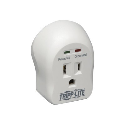 TrippLite SPIKECUBE Surge Protector Wallmount Direct Plug In 120V 1 Outlet 600 Joule - Surge protector - 15 A - AC 120 V - 1800 Watt - output connectors: 1