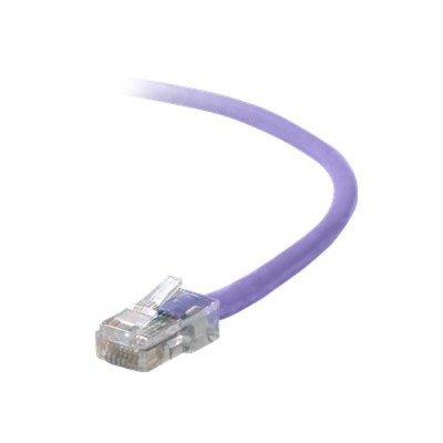 Belkin A3X126-07-PUR Crossover cable - RJ-45 (M) - RJ-45 (M) - 7 ft - UTP - CAT 5e - molded - purple