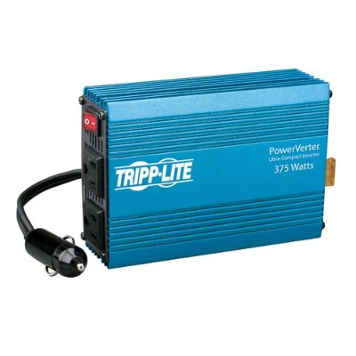 TrippLite PV375 375W PowerVerter Ultra-Compact Car Inverter with 2 Outlets