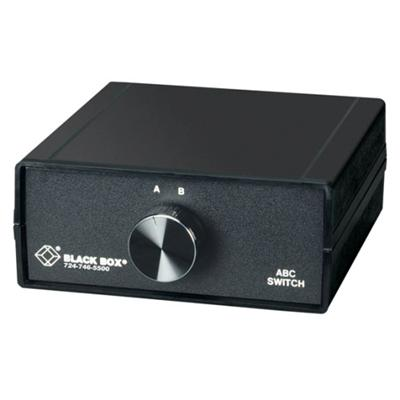 Black Box SWL065A ABC Manual Switch - Switch - 2 x 10Base-T - desktop