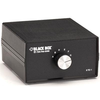 Black Box SW035A DB9 Switch 6 to 1 - Switch - 6 x serial - desktop