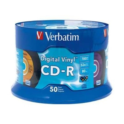Click here to buy CDR 80Min. 700MB Branded - Digital Vinyl - Storage media by Verbatim.