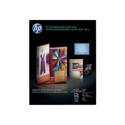 HP Inc. Q5443A Inkjet Matte Tri-fold Brochure Paper - 8.5 x 11 in (100 sheets)