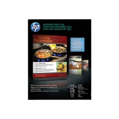 HP Inc. Q1987A  Inkjet Glossy Brochure Paper and Flyer - 8 x 11 in (150 sheets)