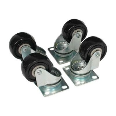 Startech 4postcaster Caster Kit For Open Frame Rack - 4postrack - Rack Casters Kit - For P/n: 4postrack25  4postrackbk