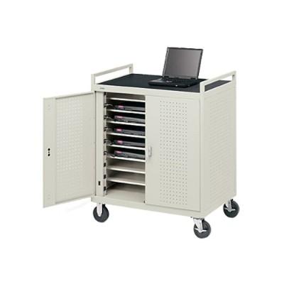 Bretford Manufacturing LAP18ERBFR-GM Laptop Storage Cart LAP18ERBFR-GM - Notebook storage cart - gray