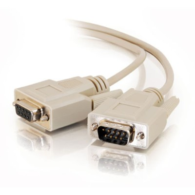 Cables To Go 09452 25ft DB9 M/F Serial RS232 Extension Cable - Beige